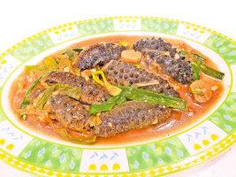 【梁廚美食】薑蔥燜燒澳洲小海參