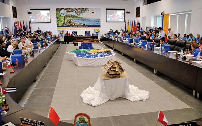 9月3日,18個成員國參加「太平洋島嶼論壇」開幕。(AFP)