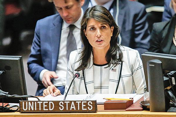 美國駐聯合國大使黑利強調,包括中共、古巴等迫害人權嚴重的國家把持理事會,造成許多國際人權問題遭受忽視。(Getty Images)