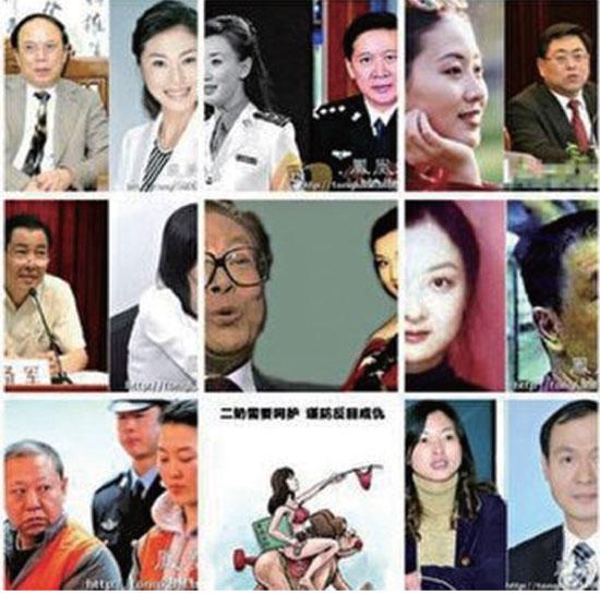 中共官員腐敗60%以上跟包「二奶」有關係,被查處的貪官中95%有「情婦」。(大紀元合成圖)