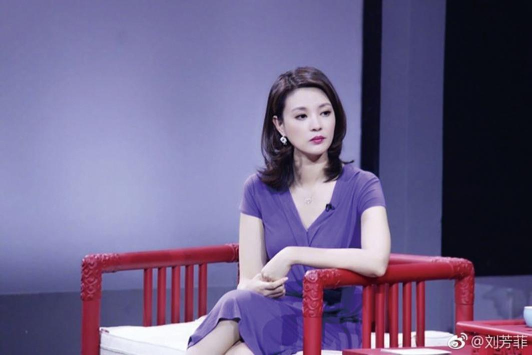 香港君怡酒店老闆劉希泳疑遭刑訊至死。圖為劉妻央視女主持劉芳菲。(網絡圖片)
