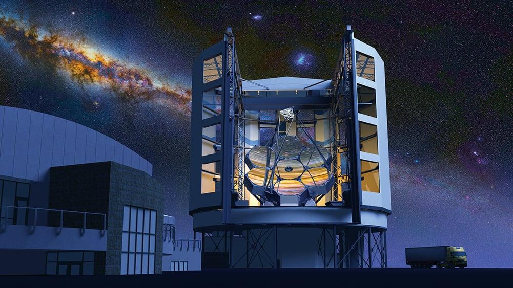 NASA的哈伯太空望遠鏡拍到IRAS 05437+2502星雲的圖片。中間偏左處有一個倒V字。(NASA)