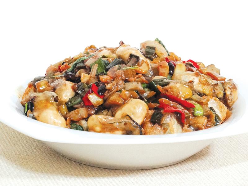 [媽媽私房菜]  香辣下飯的油條生蠔