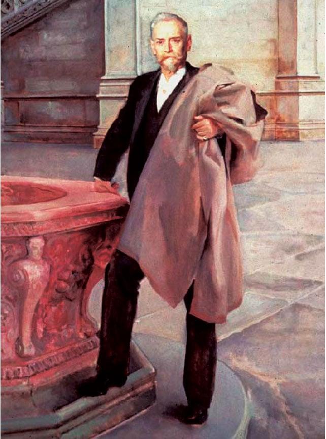 著名建築師理查德.莫里斯.亨特(Richard Morris Hunt), John Singer Sargent 1895年繪製。