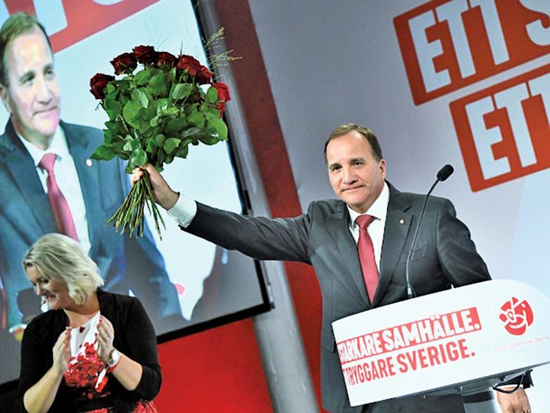 瑞典大選執政黨慘勝支持率創新低