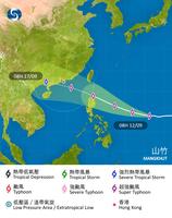 超強颱風山竹來勢洶洶 本周末或威脅本港