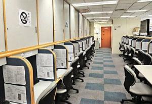 理大政策研究中心因失去大學資源,今年6月停止運作,辦公室也被收回。(李逸/大紀元)
