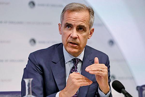 英國央行行長卡尼接受媒體針對全球金融海嘯十周年專題訪問時說,目前中國金融體系不穩定的問題,是全球經濟危機的重大隱憂之一。(DANIEL LEAL-OLIVAS/AFP/Getty Images)
