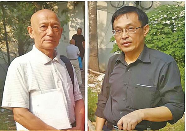 孫茜的辯護律師趙志義(左)與李勁松(右)。(本報合成圖)