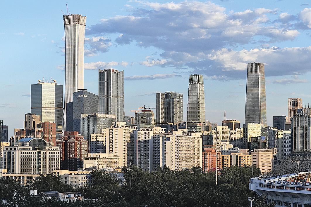 6月27日,北京的中央商業區。(Getty Images)