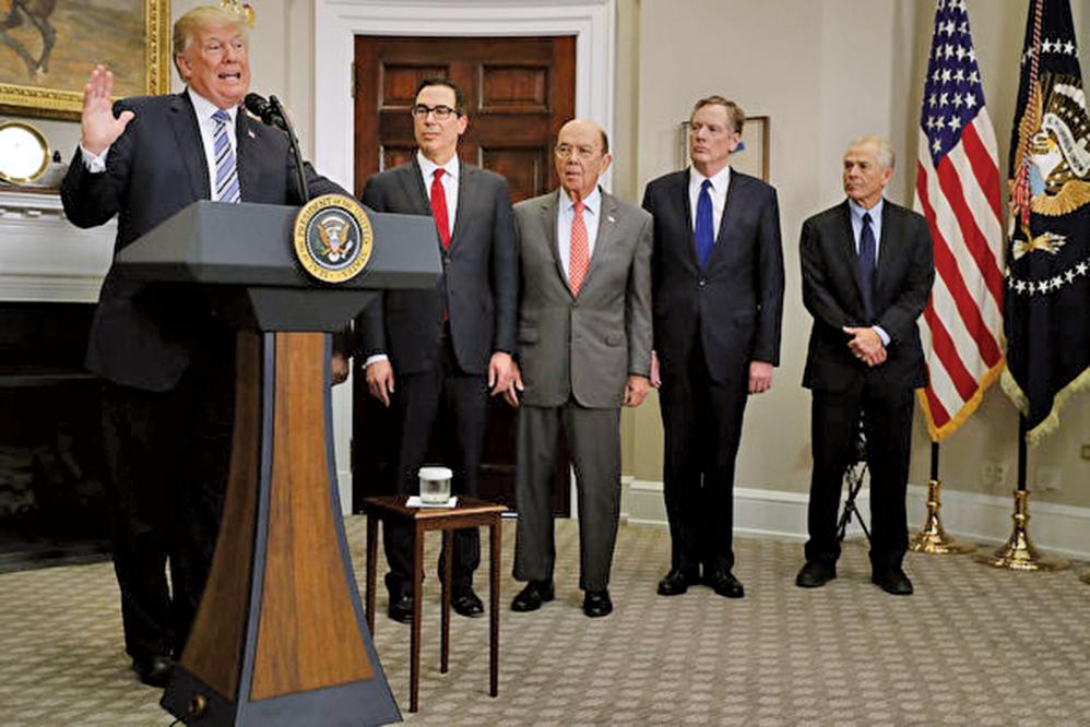 美國總統特朗普日前對媒體談及中美貿易問題時稱,美國正對中共採取「非常強硬的立場」。(AFP)