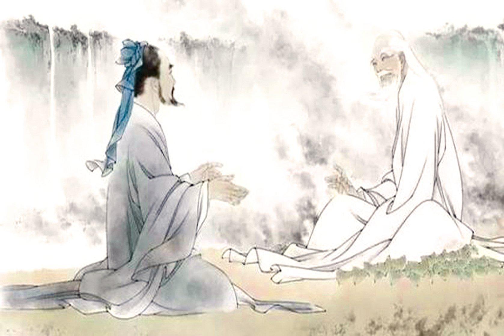 老子和孔子的對話,流傳百世的千古智慧!(圖片來源 網絡)