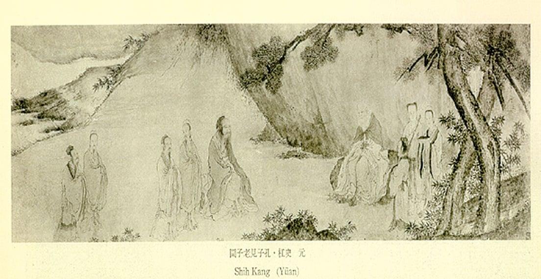 孔子向老子問道 (圖片來源:維基百科)