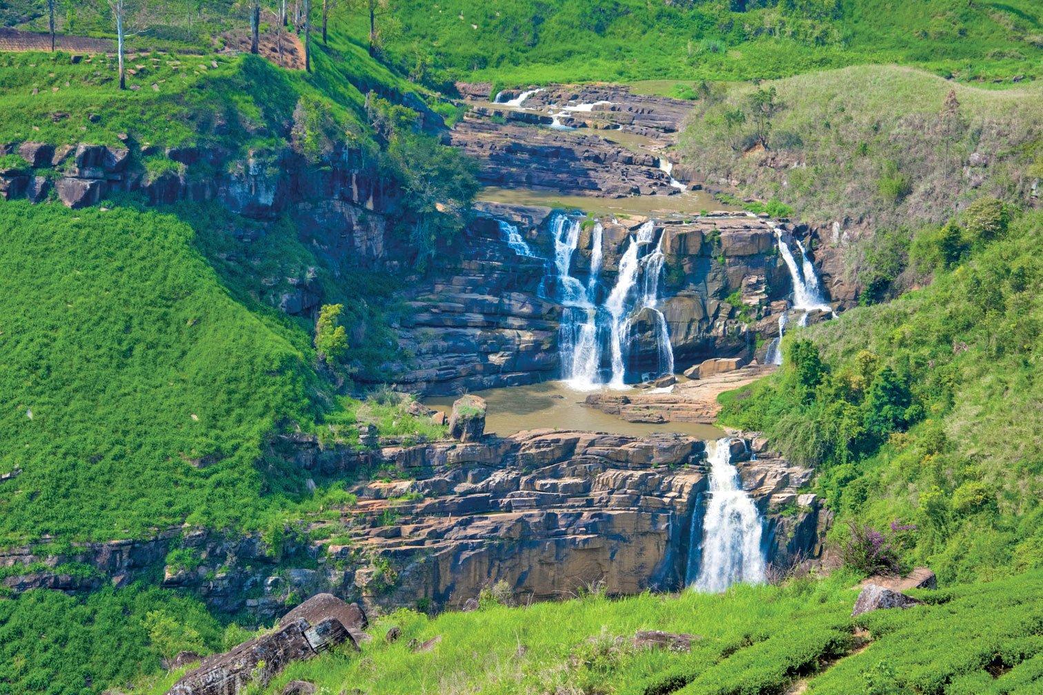 斯里蘭卡的聖克雷爾瀑布。