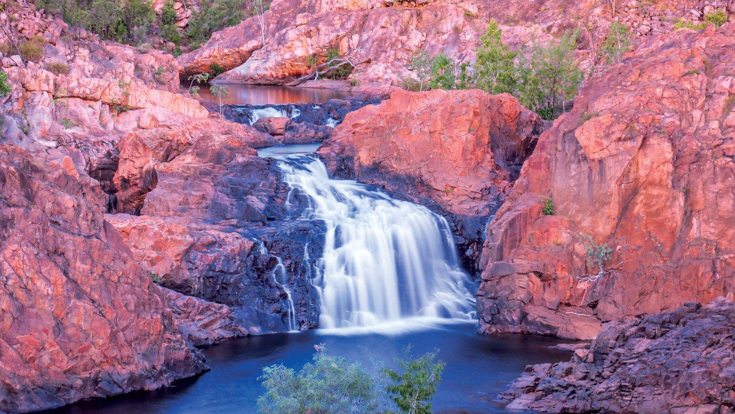 北領地的艾迪絲瀑布。