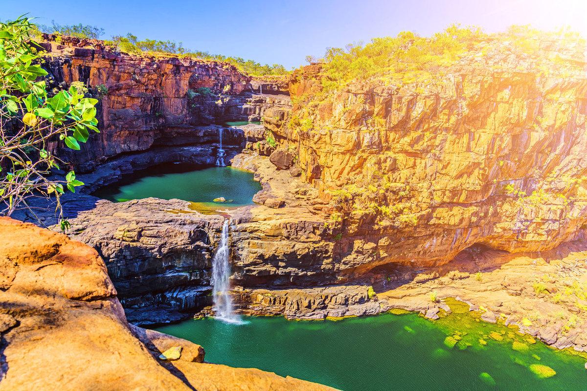 澳洲的米切爾瀑布。
