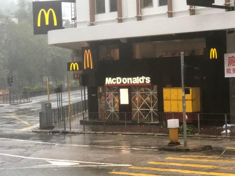 何文田麥當勞照常營業。(梁珍)