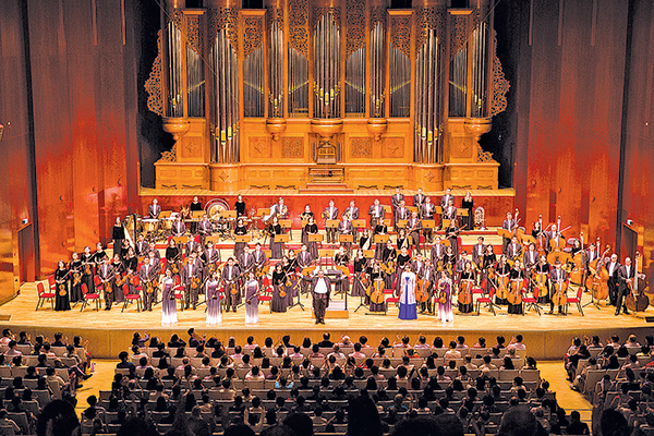 9月13日晚,神韻交響樂團在台北國家音樂廳舉行2018年巡演的首場演出。(陳柏州/大紀元)