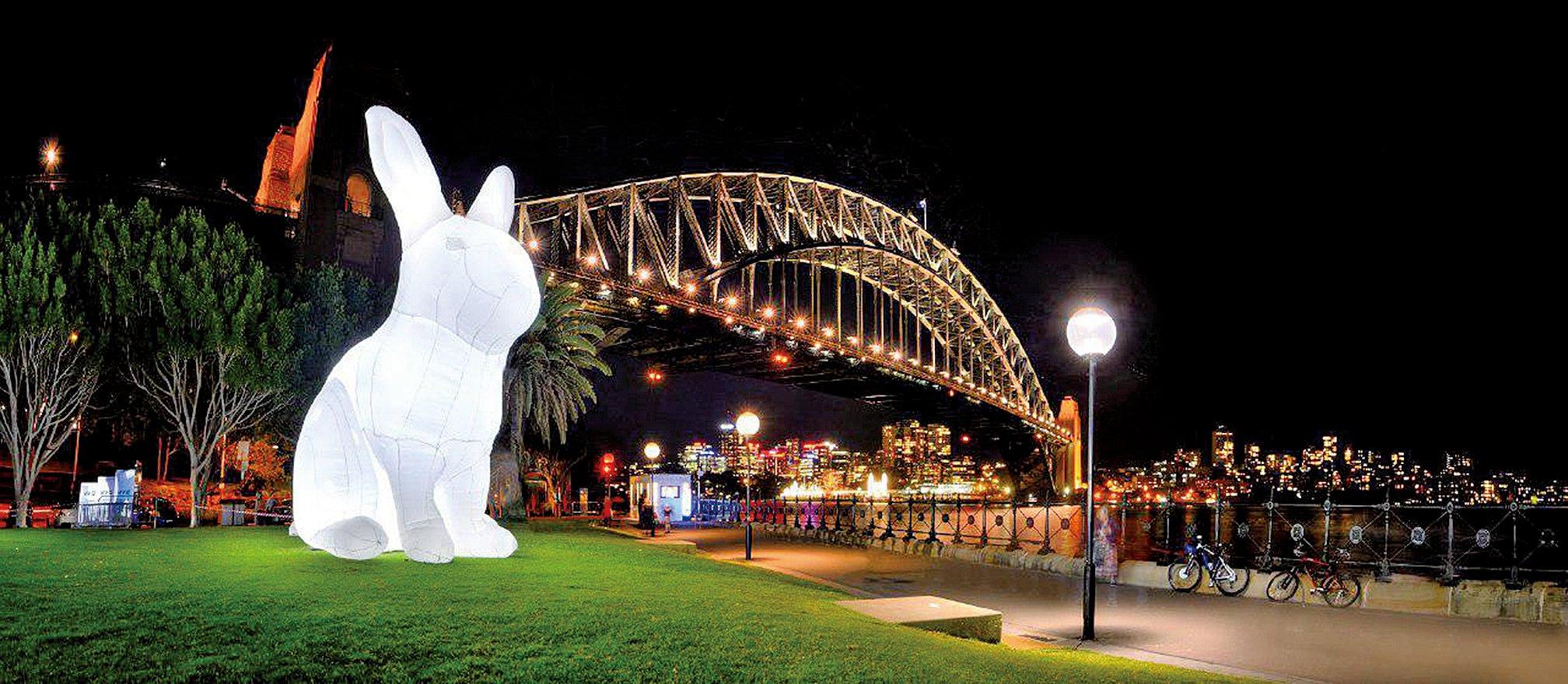 巨型藝術裝置月兔首次登陸 中港城×利東街。(利東街官網)