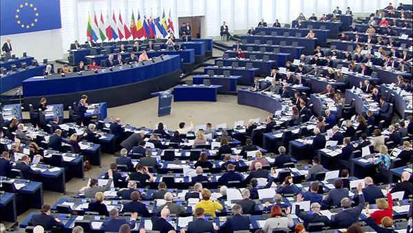 歐洲議會近日通過《歐中關係》決議文中,譴責中共對人權的迫害,並強調歐中首腦會議必須達成人權成果。(歐洲議會 European Parliament)