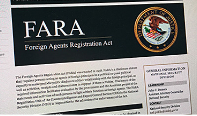 中共喉舌在美國的分支被要求按照《外國代理人登記法》(FARA)註冊。(大紀元)