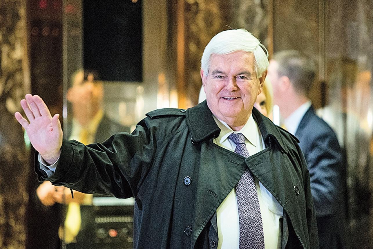 美國眾議院前議長金里奇發出預警。(AFP)