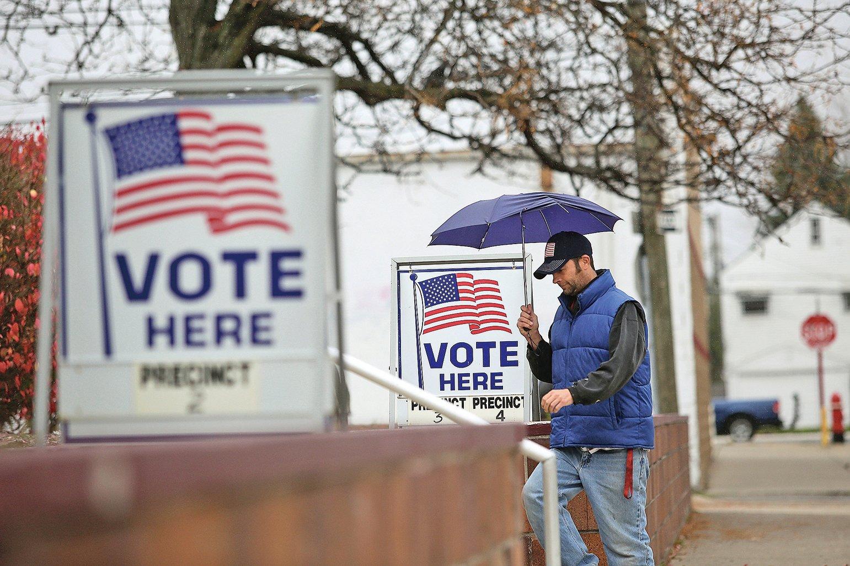 美國中期選舉即將在11月6日登場。圖為投票點。(Getty Images)