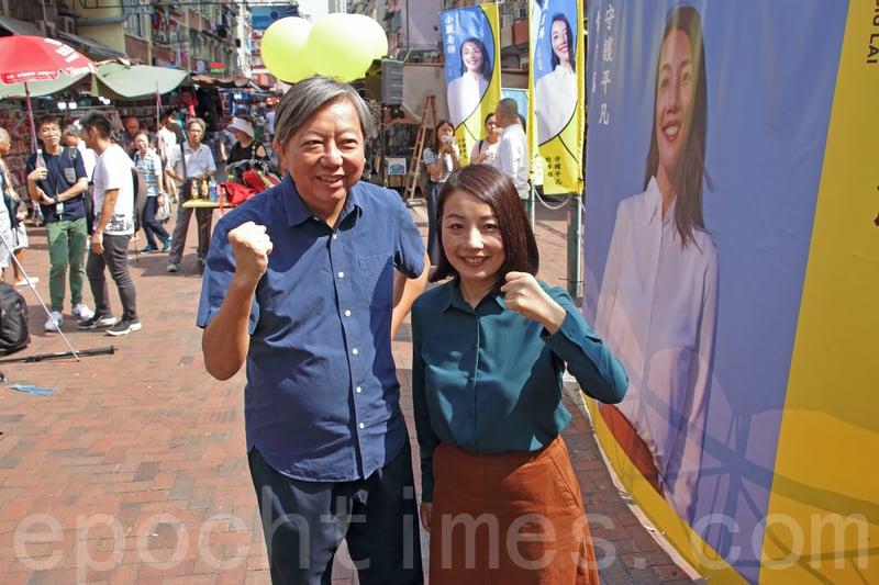 被視為劉小麗的「Plan B」工黨李卓人強調,工黨全力支持劉小麗取回議席。(蔡雯文/大紀元)