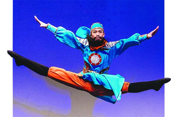 305號選手劉新龍表演舞蹈劇目《忠義千秋》。(愛德華/大紀元)