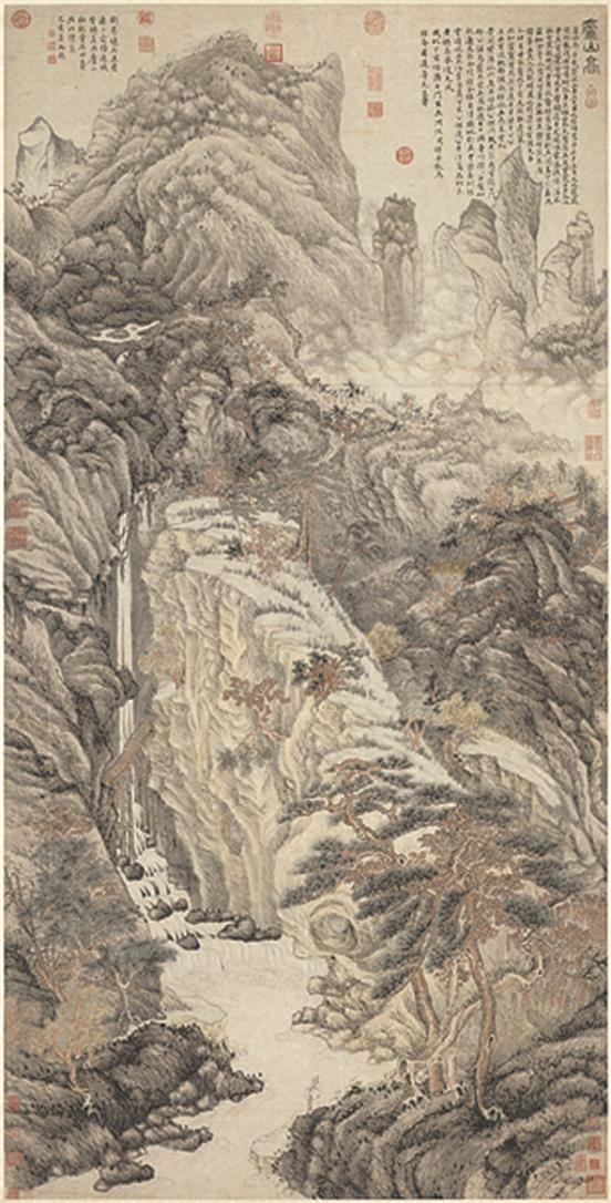 明 沈周 廬山。國立故宮博物院藏(公有領域)
