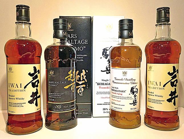 本坊酒造生產的部份威士忌。