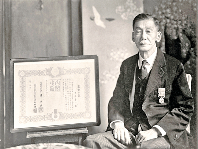 日本威士忌誕生的積極推手岩井喜一郎。