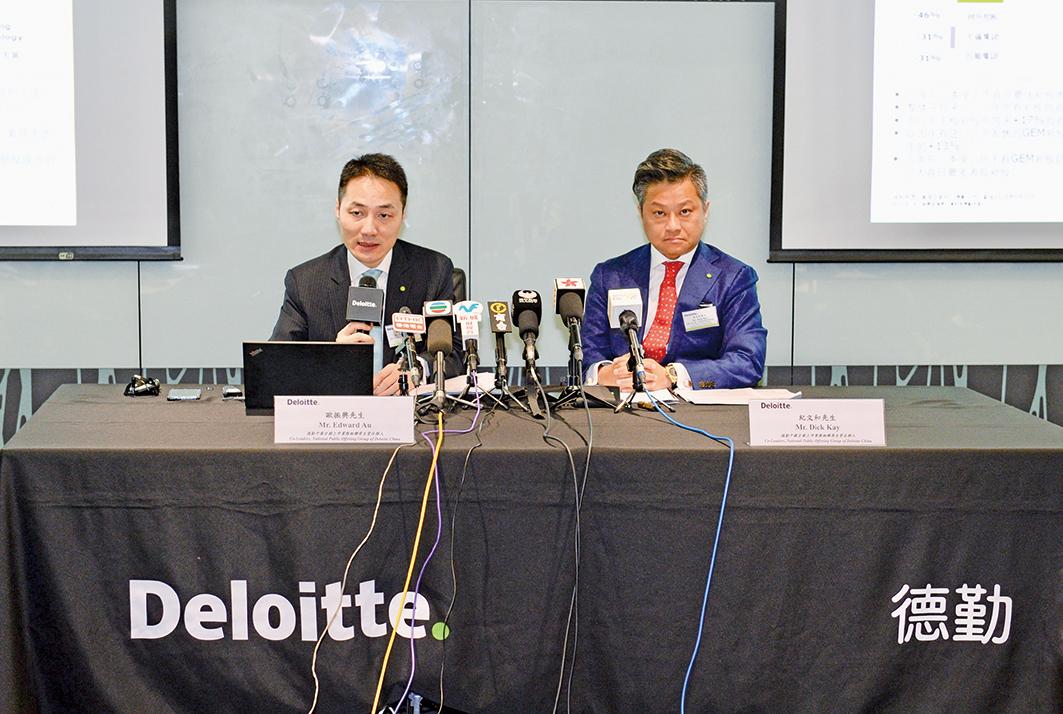 德勤會計師事務所26日表示,香港新股市場今年前三季有158隻新股上市,集資額達2,434億元,預料香港可重回全球交易所IPO冠軍位置,全年可集資約3,000億元。(宋碧龍/大紀元)