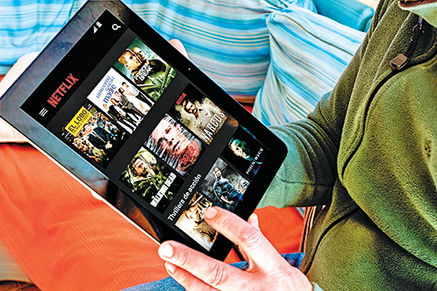 Netflix的原創電視劇吸引了眾多美國人。(Shutterstock)