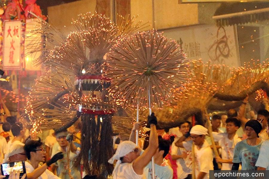 大坑舞火龍傳統已有139年歷史。(陳仲明/大紀元)
