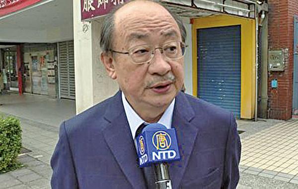 立委柯建銘譴責騷擾神韻演出的團體。(新唐人電視台)