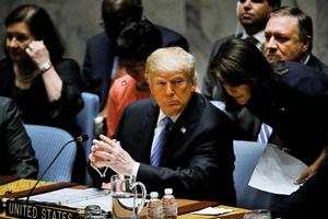 特朗普安理會講話 揭中共意圖干預美國期中選舉
