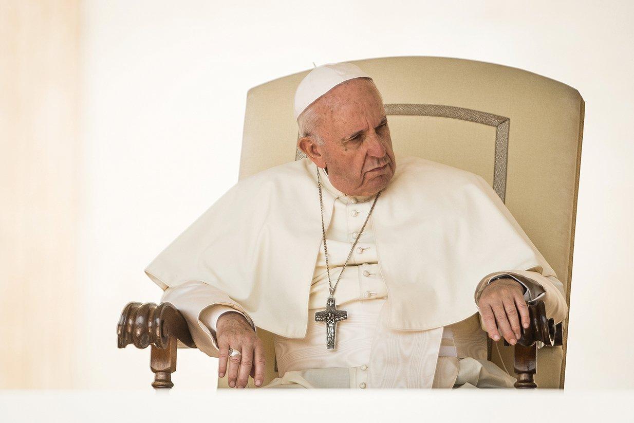 9月22日,中梵簽署的臨時協議引發爭議。有媒體評論,不管是打壓宗教信仰還是強摘器官,梵蒂岡對中共惡行的容忍難以致信。圖為教宗方濟各(Pope Francis)。(Getty Images)