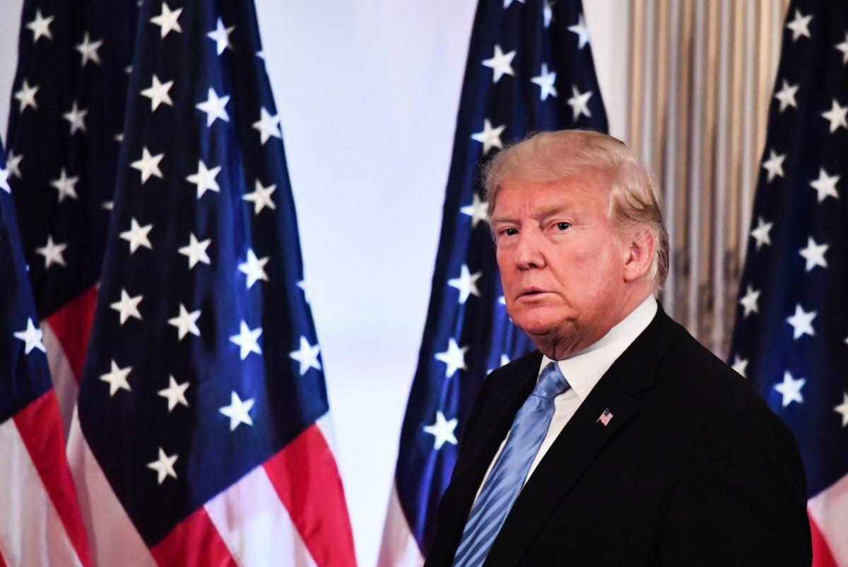 IHS Markit公司亞太首席經濟學家比斯瓦斯(Rajiv Biswas)認為,美國總統特朗普若推出下一輪關稅措施,將會形成「經濟衝擊波」,對中共造成重創。圖為2018年9月26日,特朗普在紐約聯合國大會(UNGA)期間出席新聞發佈會。(John Moore/Getty Images)