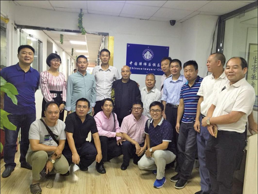 9月29日,「中國律師後俱樂部」在廣西南寧正式成立,參與者包括:王宇律師(左二)、覃永沛律師(左五)、謝陽律師(右三)。(王宇律師推特)