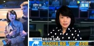 央視女記者英國講座打人遭拘捕