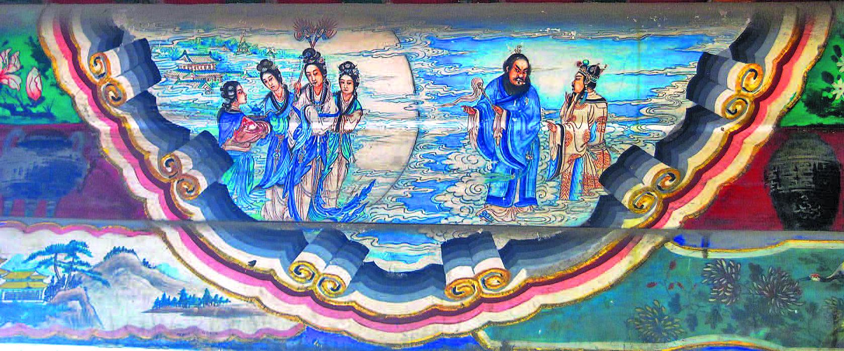 頤和園長廊彩繪《唐玄宗遊月宮》(Shizhao/維基百科)