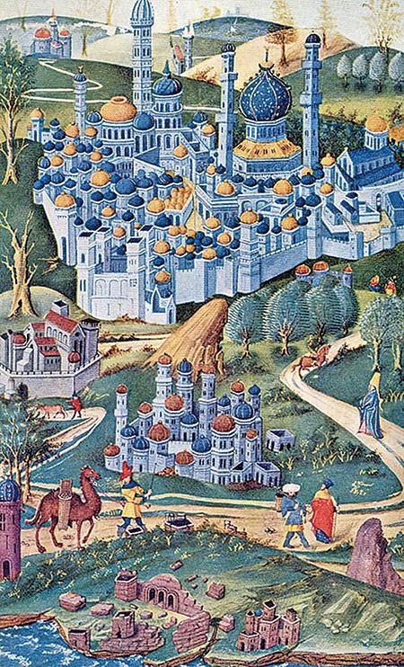 15世紀繪畫,聖城耶路撒冷。(公有領域)