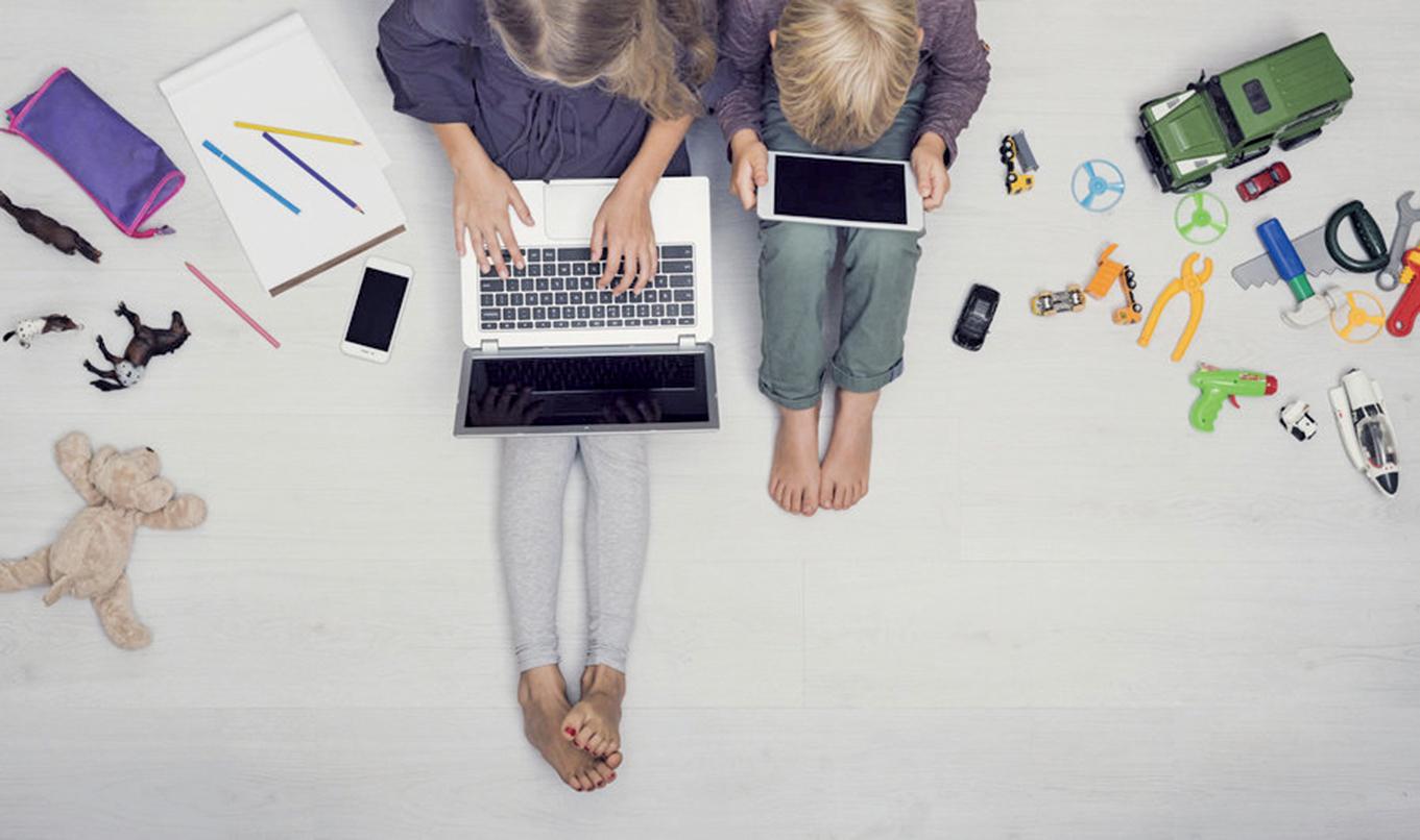 Jeremy Walsh博士表示,不論兒童對著電子屏幕在做甚麼,將這個時間減少到兩個小時之內,對認知和大腦健康都是有益的。(Fotolia)