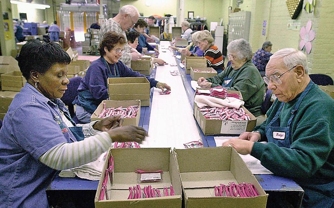根據美國退休協會(AARP)的統計數據,美國有20%65歲以上的人仍在工作或在找工作。(法新社)