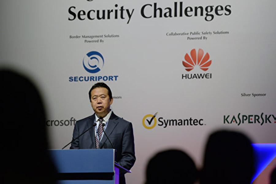 10月7日,中紀委宣布中共公安部副部長孟宏偉(圖)被調查。(ROSLAN RAHMAN/AFP/Getty Images)
