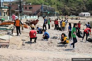 風災後離島淨灘 助人益己——獅子會中學吉澳、鴨洲清潔海灘活動