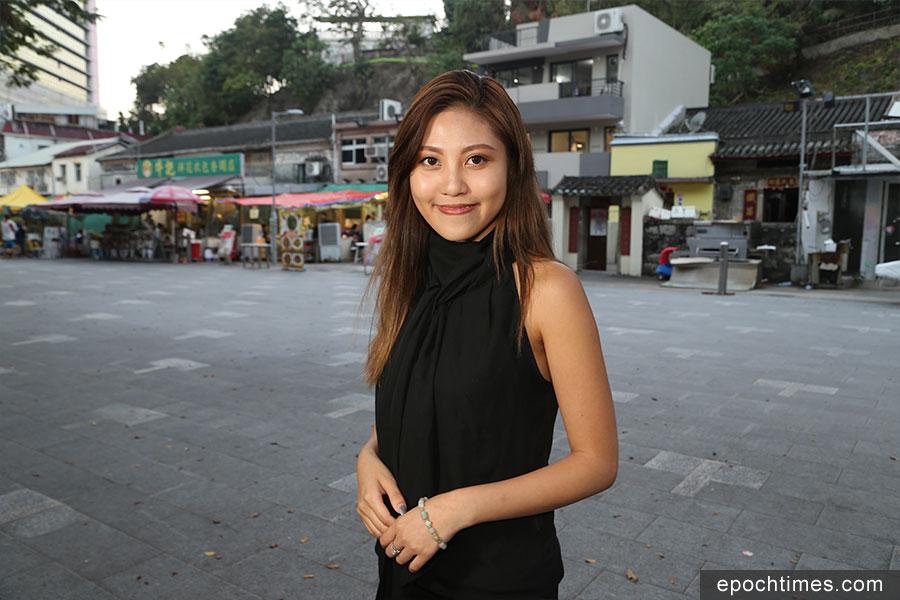「山竹颱風 義工招募」FB群組召集人黎雅雯(Amanda)。(陳仲明/大紀元)