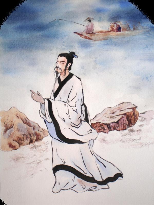中國歷史上著名詩人和一代忠臣屈原。(明慧學校提供)