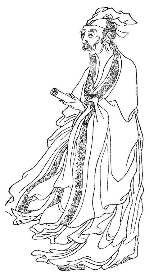 """白居易像""""晩笑堂竹莊畫傳""""(公有領域)"""